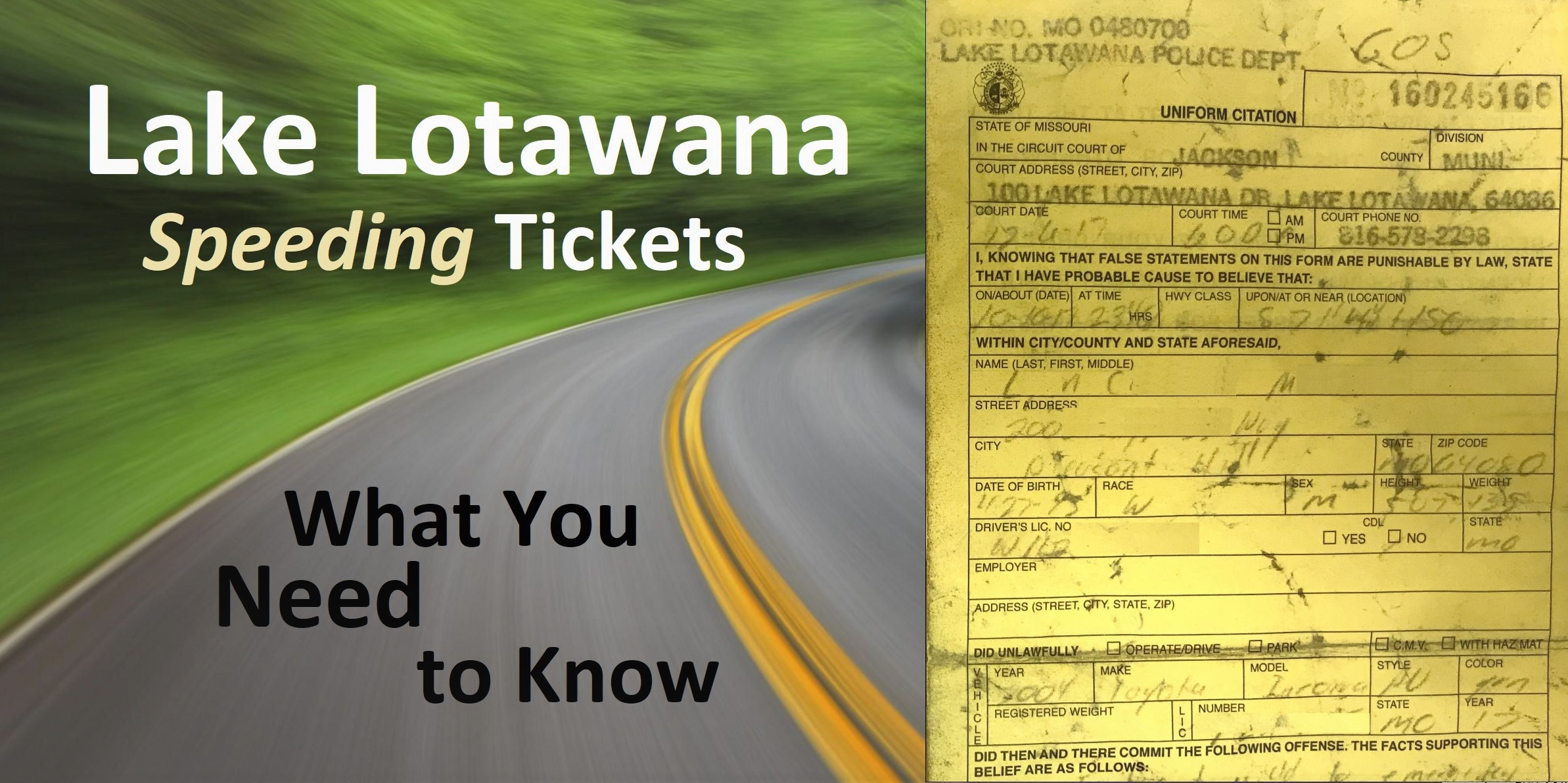 How Much Does A Traffic Lawyer Cost >> Lake Lotawana Speeding Tickets What You Need To Know Hamilton